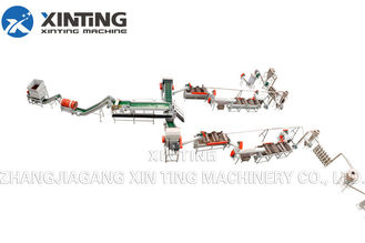 HDPE PET Bottle Washing Recycling Line Include Crushing Cold / Hot Washing Dewatering Process
