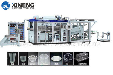 Automatic HDPE Recycling Machine Plastic Thermoforming Machine for Disposable Cups Containers