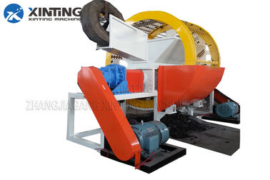 Waste Tire Double Shaft Shredder High Efficiency