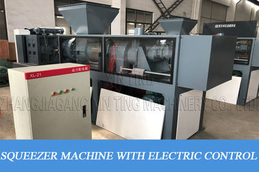 Film Squeezing Dryer HDPE Recycling Machine With Granulator Screw Press Extruder
