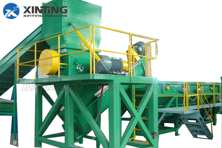 PE PP Film HDPE Recycling Machine Stainless Steel Material