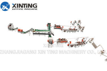 China HDPE PET Bottle Washing Recycling Line Include Crushing Cold / Hot Washing Dewatering Process distributor