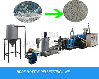 China Milk Bottle Flakes Water Cutting Waste Plastic Recycling Pelletizing Machine Granulator Line distributor
