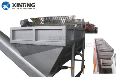 China 300kg / Hr Plastic Waste Recycling Machine Hdpe Bottle Crushing Washing Dewatering distributor